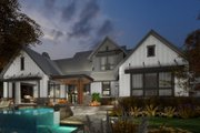 Contemporary Style House Plan - 3 Beds 2.5 Baths 2425 Sq/Ft Plan #120-268 Exterior - Rear Elevation
