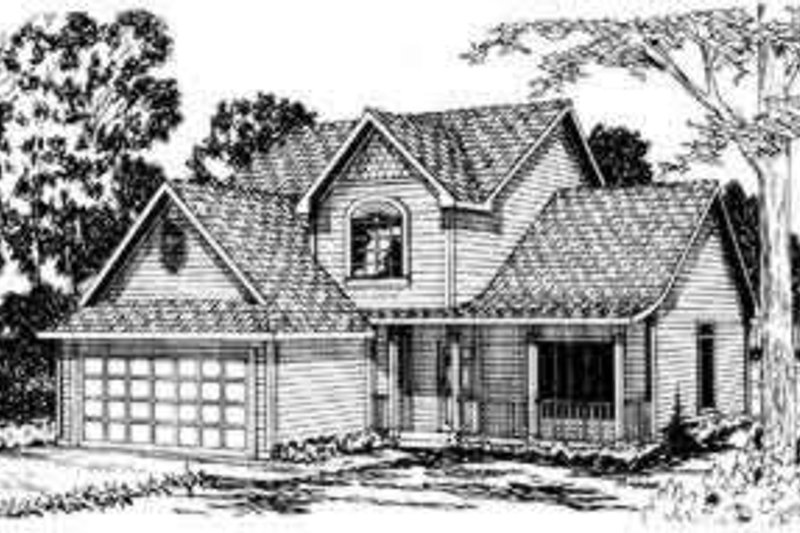 Dream House Plan - Traditional Exterior - Front Elevation Plan #124-302