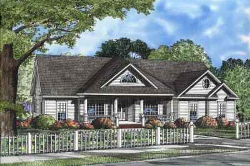 Dream House Plan - Country Exterior - Front Elevation Plan #17-534