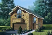 Contemporary Style House Plan - 1 Beds 1 Baths 654 Sq/Ft Plan #57-149