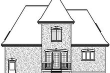 Home Plan - European Exterior - Rear Elevation Plan #23-804