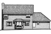Traditional Style House Plan - 3 Beds 2.5 Baths 1998 Sq/Ft Plan #20-215 Exterior - Rear Elevation