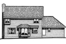 Home Plan Design - Traditional Exterior - Rear Elevation Plan #20-215