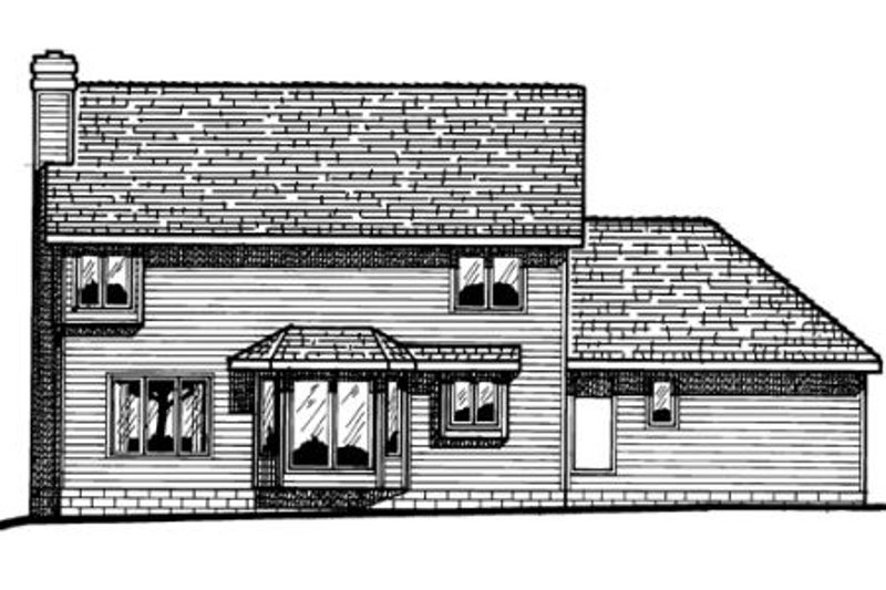 Traditional Exterior - Rear Elevation Plan #20-215 - Houseplans.com