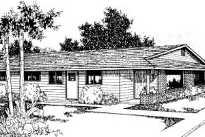 Ranch Exterior - Front Elevation Plan #303-237