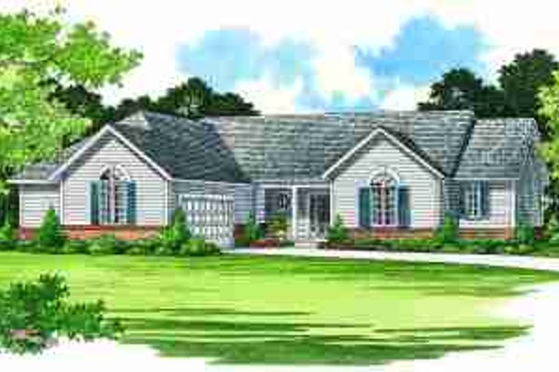 Traditional Exterior - Front Elevation Plan #72-326 - Houseplans.com