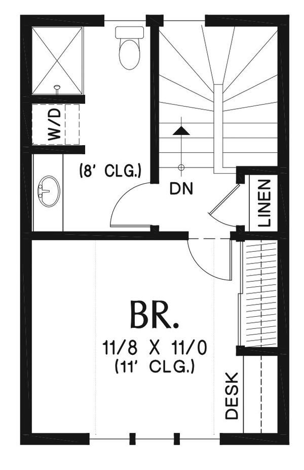 Craftsman Floor Plan - Upper Floor Plan Plan #48-935
