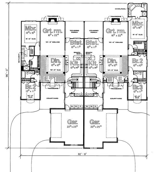 Home Plan - Traditional Floor Plan - Main Floor Plan #20-614