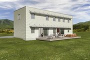 Modern Style House Plan - 3 Beds 2.5 Baths 2200 Sq/Ft Plan #497-18 Exterior - Front Elevation