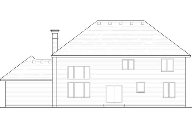 Traditional Exterior - Rear Elevation Plan #51-395 - Houseplans.com