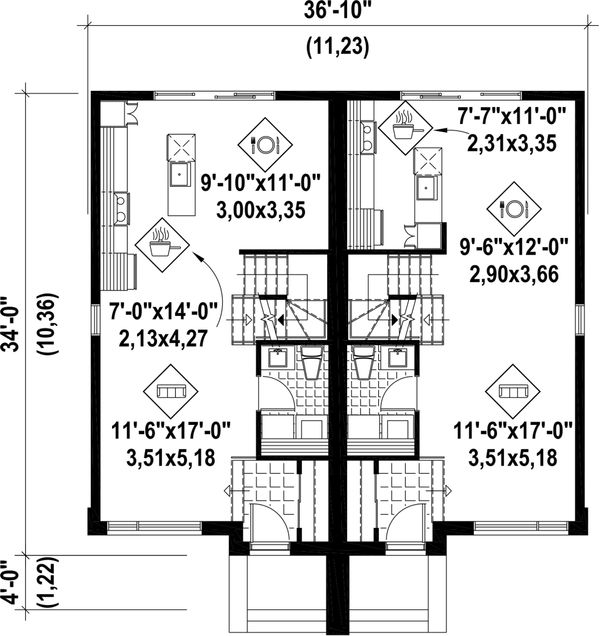 Floor Plan - Main Floor Plan Plan #25-4517
