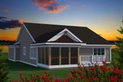 Ranch Style House Plan - 2 Beds 2 Baths 1628 Sq/Ft Plan #70-1190 Exterior - Rear Elevation