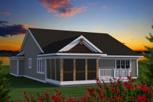 Ranch Exterior - Rear Elevation Plan #70-1190
