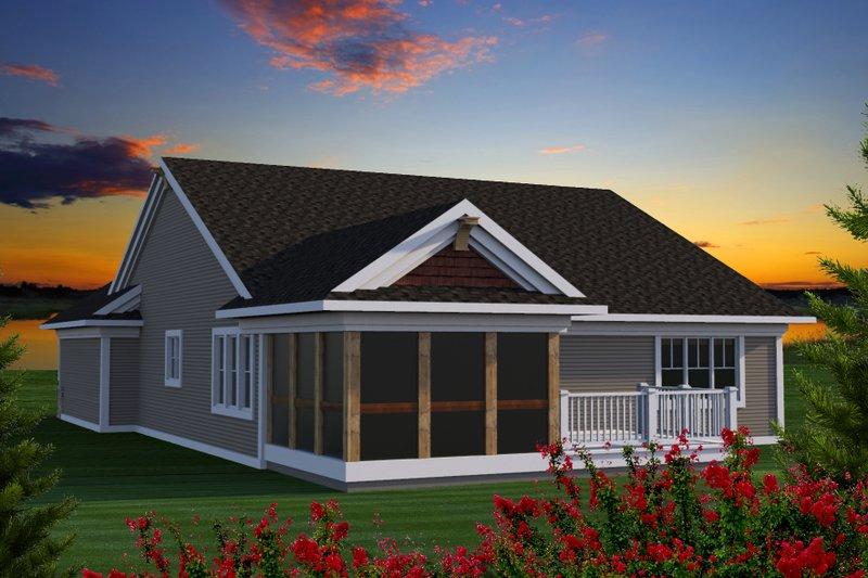 Ranch Exterior - Rear Elevation Plan #70-1190 - Houseplans.com