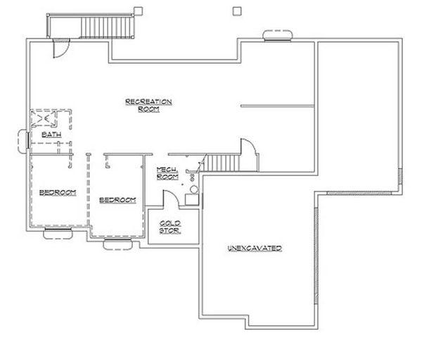 Colonial Floor Plan - Lower Floor Plan #5-237
