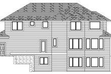 Prairie Exterior - Rear Elevation Plan #51-364