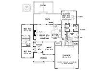 Ranch Floor Plan - Main Floor Plan Plan #929-1091