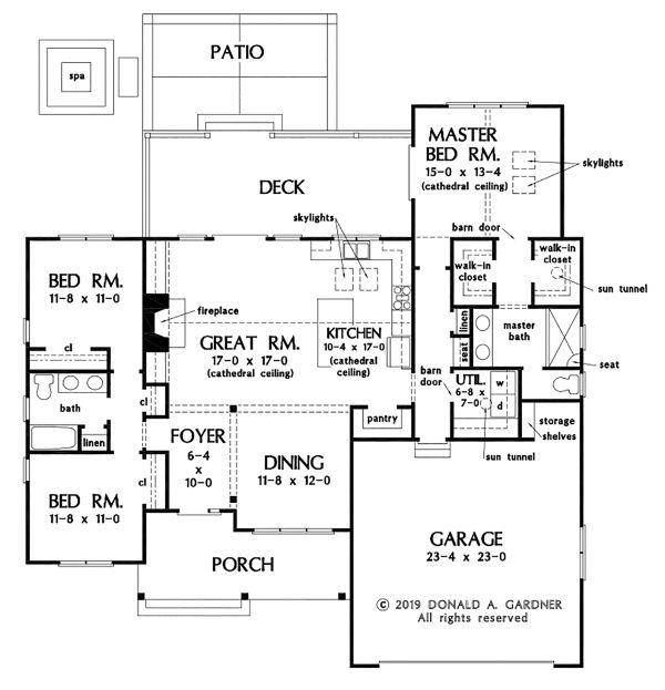 House Plan Design - Ranch Floor Plan - Main Floor Plan #929-1091