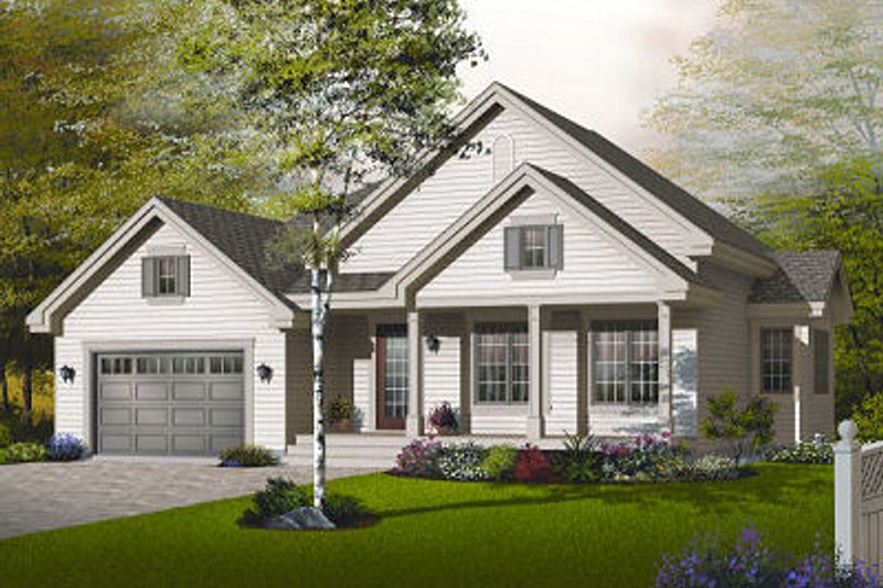 Home Plan - Traditional Exterior - Front Elevation Plan #23-794