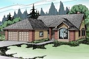 Traditional Style House Plan - 3 Beds 2 Baths 1790 Sq/Ft Plan #124-119 Exterior - Front Elevation
