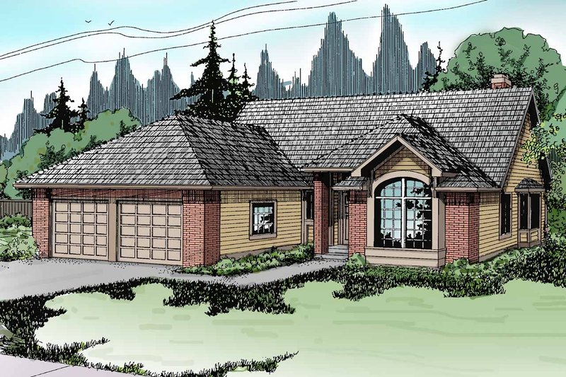 Traditional Exterior - Front Elevation Plan #124-119 - Houseplans.com