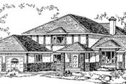Tudor Style House Plan - 4 Beds 3 Baths 2431 Sq/Ft Plan #18-8972 Exterior - Front Elevation