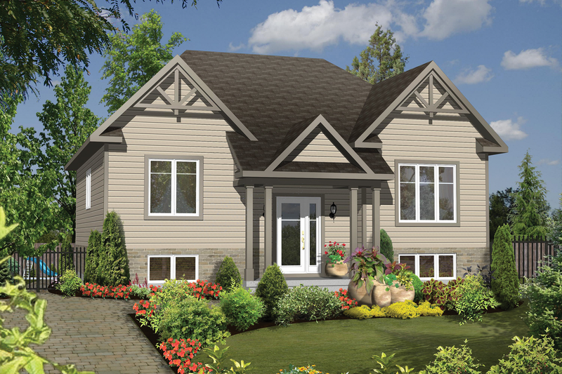 Bungalow Style House Plan - 3 Beds 1 Baths 1178 Sq/Ft Plan #25-4636 Exterior - Front Elevation