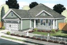 Cottage Exterior - Front Elevation Plan #513-2082