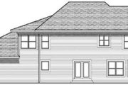 Colonial Style House Plan - 4 Beds 2.5 Baths 2596 Sq/Ft Plan #70-625 Exterior - Rear Elevation