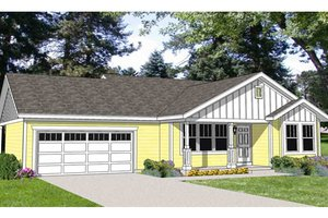 Farmhouse Exterior - Front Elevation Plan #116-277