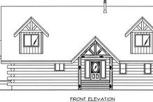 Log Exterior - Other Elevation Plan #117-507