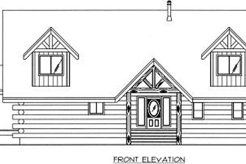 Log Exterior - Other Elevation Plan #117-507 - Houseplans.com