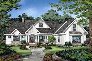 Home Plan - Farmhouse Exterior - Front Elevation Plan #929-1070
