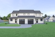 Farmhouse Style House Plan - 3 Beds 2.5 Baths 1535 Sq/Ft Plan #1070-96 Exterior - Rear Elevation