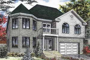 Cottage Exterior - Front Elevation Plan #138-391