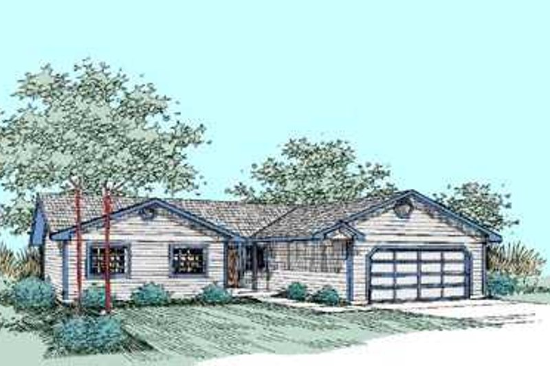 Ranch Exterior - Front Elevation Plan #60-470