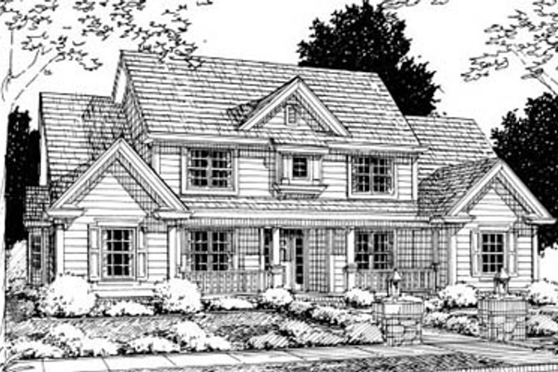 Architectural House Design - Traditional Exterior - Front Elevation Plan #20-329