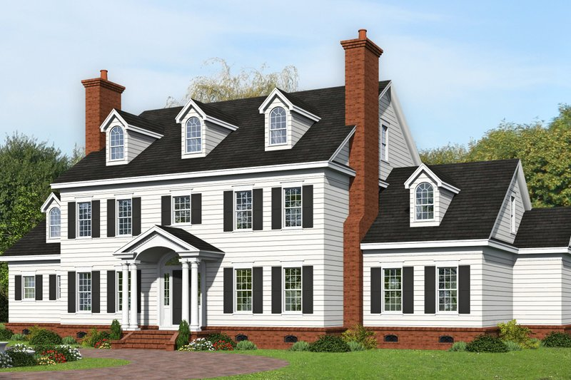 House Plan Design - Traditional Exterior - Front Elevation Plan #932-449