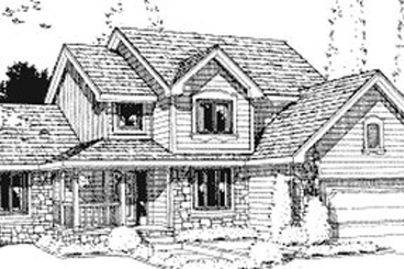 Traditional Exterior - Front Elevation Plan #20-726 - Houseplans.com