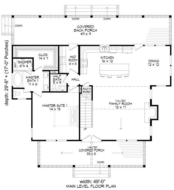 Country Floor Plan - Main Floor Plan #932-359