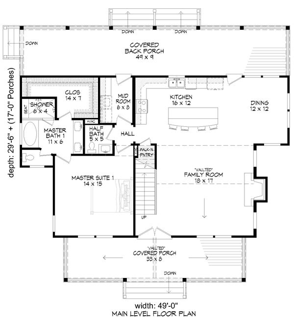 House Design - Country Floor Plan - Main Floor Plan #932-359