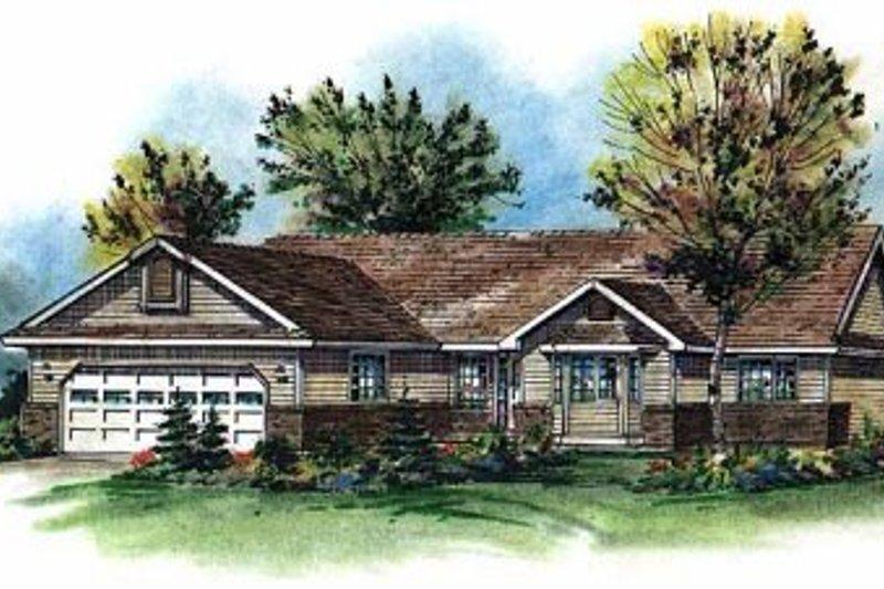 House Blueprint - Ranch Exterior - Front Elevation Plan #18-197