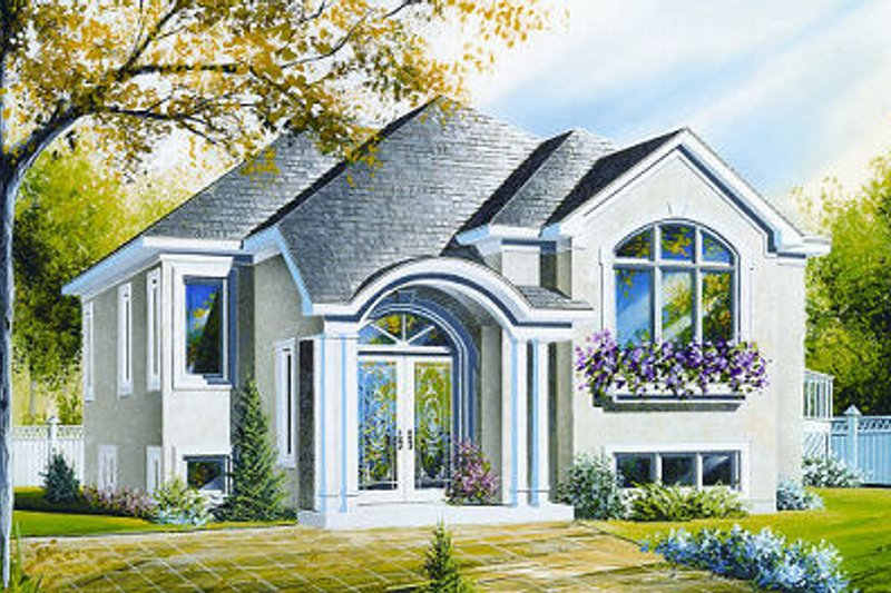 European Exterior - Front Elevation Plan #23-702 - Houseplans.com
