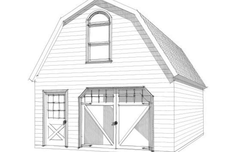 Country Exterior - Front Elevation Plan #63-337