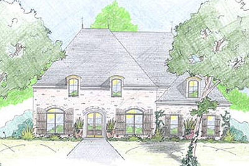 Dream House Plan - European Exterior - Front Elevation Plan #36-464