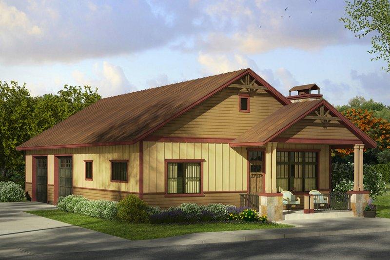 Dream House Plan - Craftsman Exterior - Front Elevation Plan #124-989