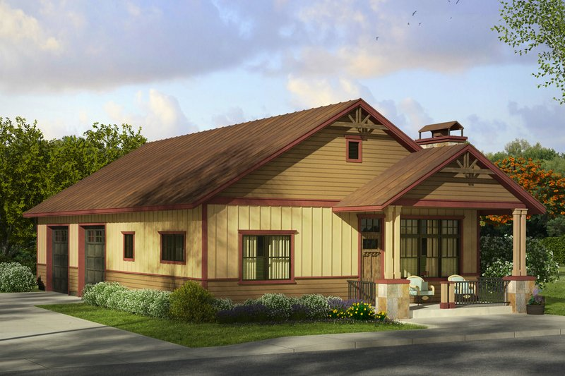 Craftsman Exterior - Front Elevation Plan #124-989