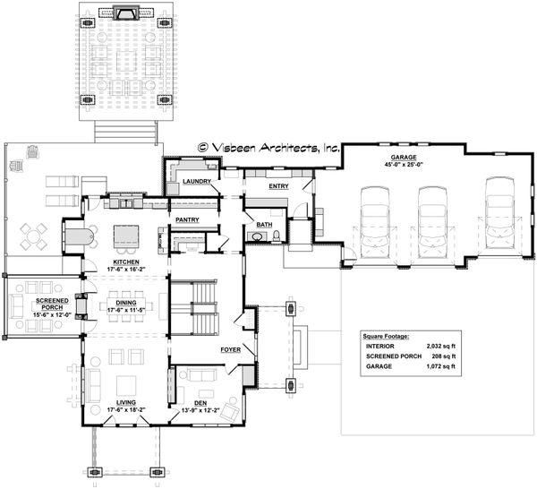 Craftsman Floor Plan - Main Floor Plan Plan #928-317
