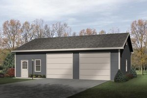 Traditional Exterior - Front Elevation Plan #22-406