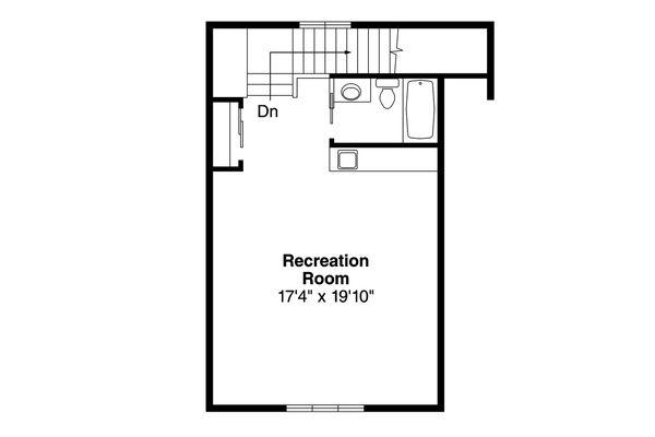 Country Floor Plan - Upper Floor Plan Plan #124-993